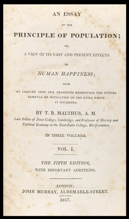 thomas malthus essays on population Thomas malthus essays: over 180,000 thomas malthus essays, thomas malthus term papers, thomas malthus research paper, book reports 184 990 essays, term and research papers available for unlimited access.