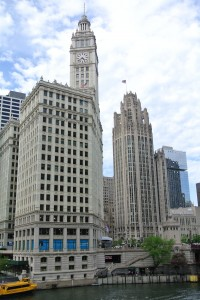 Wrigley Building the Tribune Tower above the North Branch