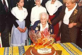 Jeanne Calment on her 122nd Birthday