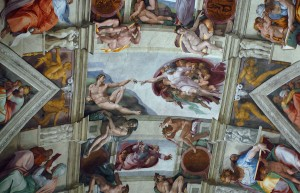 A glance at the Sistine Chapel ceiling