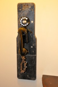 a really old telephone