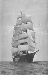 The Hussar V under sail