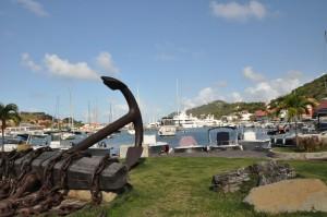 the harbor at Gustavia