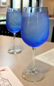 blue waterglasses