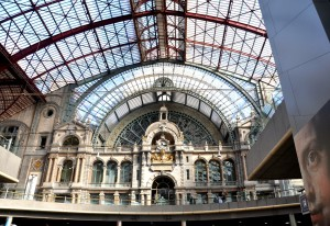 The view on arrival at Antwerp's Centrale