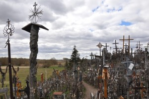 memorials on the Hill of Crosses