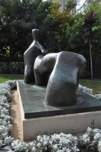 "Henry Moore, ""Reclining Figure, Arched Leg"""