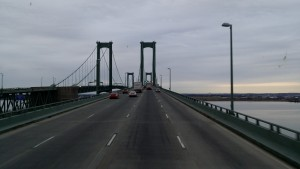 Delaware Memorial Bridge means we are almost home