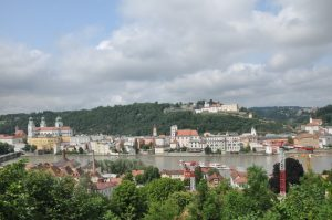 Passau from the Mariaberg